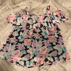 Abercrombie kids floral girls top